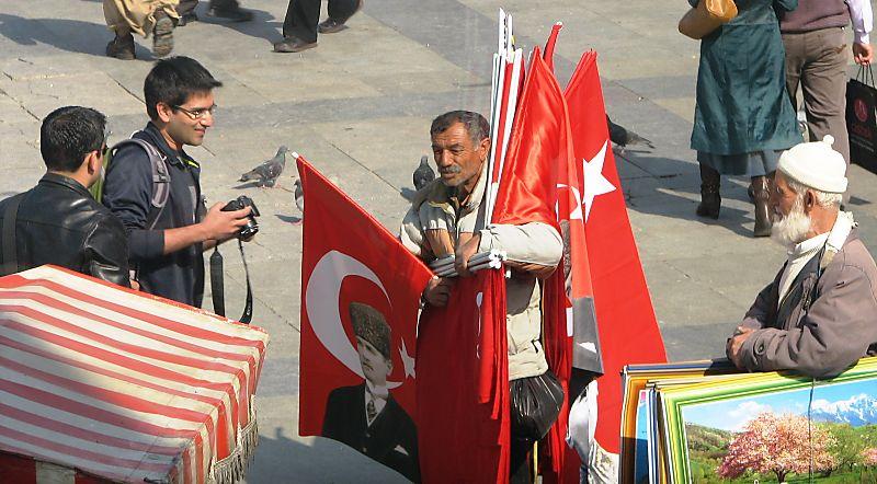 Meeting the flag man