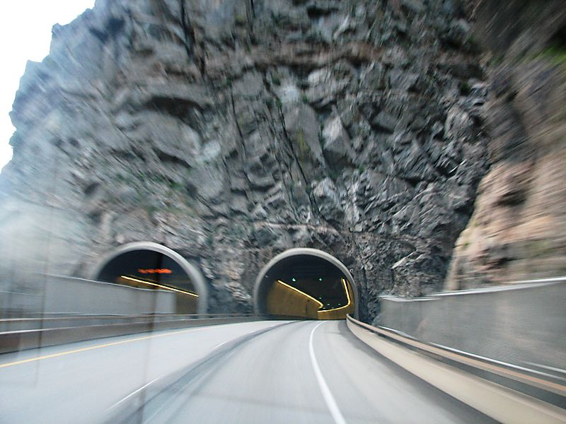 Go through tunnel