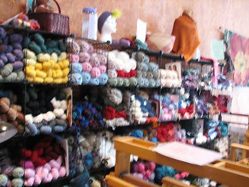 Blurry yarn wall