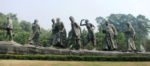 Gandhi Memorial statue