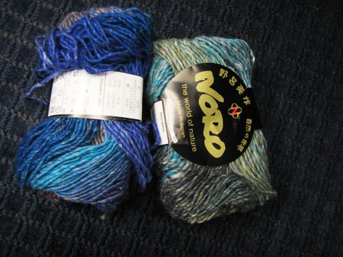 I have the yarn at my fingertips