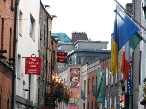 The signs of temple bar