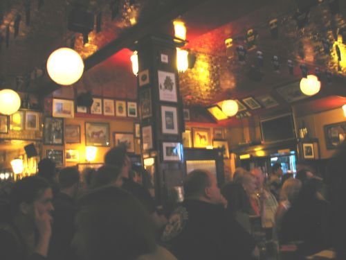 Inside the temple bar