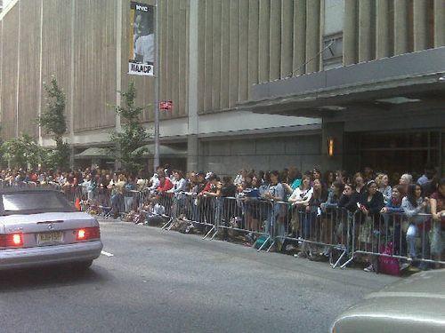 Fans wait