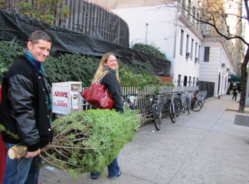 Carrying home our tree