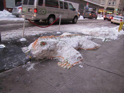 Snow lizard
