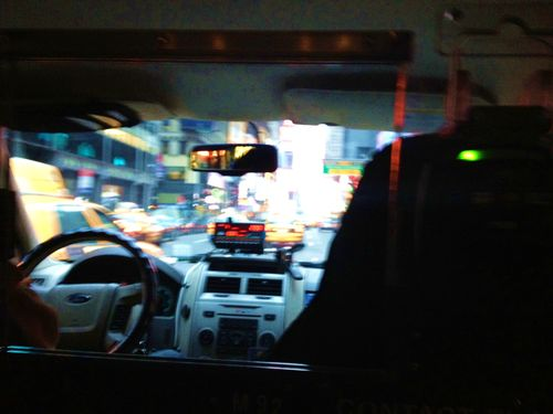 Taxi insides