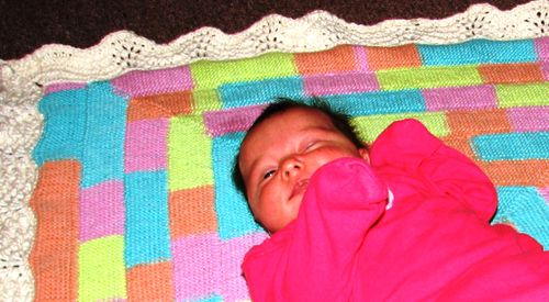 Ella on her blanket